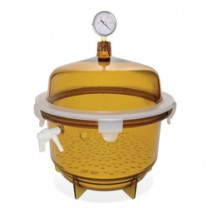 Lab Companion Amber Round Vacuum Desiccators
