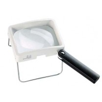 Combination Hand Held/Stand Magnifier - Diopter 7D - Lens Size: 100 x 75 mm