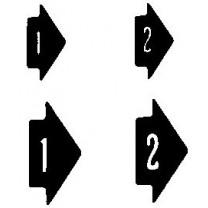 Arrowheads (Black on White) Transfer Sheet