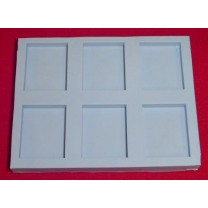 21838A - Special Silicone Embedding Mold - Six Shallow Blocks
