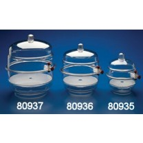 Space Saver Desiccator with Clear Polypropylene Bottom & Vacuum Ports