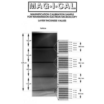 Mag*I*Cal TEM Calibration Standard