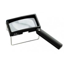 Combination Hand Held/Stand Magnifier - Diopter 6.3D - Lens Size: 100 x 50 mm