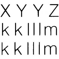 Helvetica Letters, Numbers and Symbols Transfer Sheet