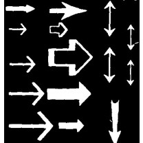 White Arrows Transfer Sheet (Set 2)