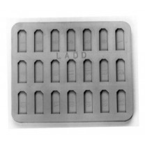 SKU: 21780 Special Flat Mold - Each depression 14mm long x 3.5mm wide x 2.4mm deep