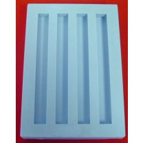 Special Mold - Four Bar Cavities - Cavity size -  125mm (L) x 12mm (W) x 9mm (H)