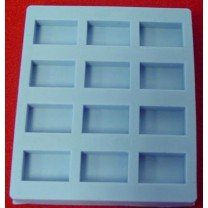 Special Mold - Twelve Blocks - Cavity size: 15mm (L) x 10mm (W) x 4mm (H)