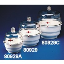 Space Saver Desiccator with Polypropylene Bottom & Vacuum Ports